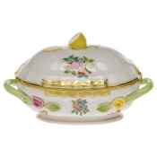 Long Mini Tureen - Flower