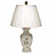 Herend  Queen Victoria Basketweave Lamp - 30""