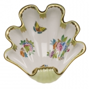 Herend Large Shell Dish - Butterfly