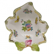 Herend Leaf Dish - Butterfly
