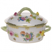 Queen Victoria SMALL COV VEG DISH - W/BRANCH