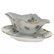 Queen Victoria GRAVY BOAT W/FIXED STAND  0.75