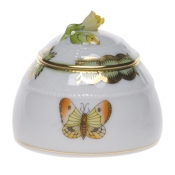 "Queen Victoria HONEY POT W/ROSE  2.5""H"