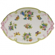 "Queen Victoria RIBBON TRAY  15.75""L X 11""W"