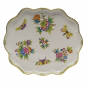 "Queen Victoria SCALLOP TRAY  11.25""L X 9.5""W"