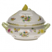"Queen Victoria TUREEN W/LEMON  (4 QT) 10""H"