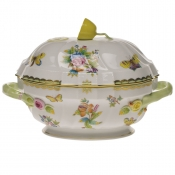 "Queen Victoria TUREEN W/LEMON  (2 QT) 9.5""H"