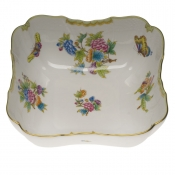"Queen Victoria SQUARE SALAD BOWL  10""SQ"