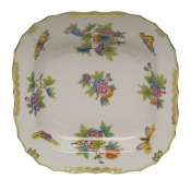 "Queen Victoria SQUARE FRUIT DISH  11""SQ"