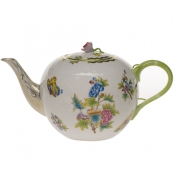 "Queen Victoria TEA POT W/ROSE  (84 OZ) 6.75""H"