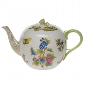 "Queen Victoria TEA POT W/ROSE  (60 OZ) 6.5""H"