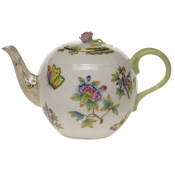"Queen Victoria TEA POT W/ROSE  (36 OZ) 5.5""H"
