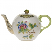 Queen Victoria TEA POT W/BUTTERFLY (12 OZ) 4""