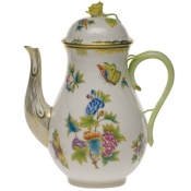 Queen Victoria COFFEE POT W/ROSE  (60 OZ) 10""