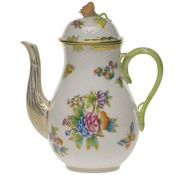 Queen Victoria COFFEE POT W/ROSE  (36 OZ) 8.5