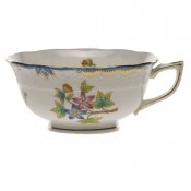 Queen Victoria Blue Border TEA CUP - BLUE (8 OZ)