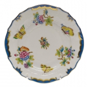 Queen Victoria Blue Border BREAD & BUTTER PLATE - BLUE 6""