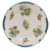 "Queen Victoria Blue Border SERVICE PLATE - BLUE 11""D"