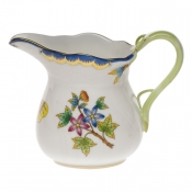 "Queen Victoria Blue Border CREAMER - BLUE (6 OZ) 3.5""H"