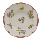 "Queen Victoria Pink  Border RIM SOUP PLATE - PINK 8""D"