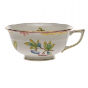 Queen Victoria Pink  Border TEA CUP - PINK (8 OZ)