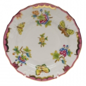Queen Victoria Pink  Border BREAD & BUTTER PLATE - PINK 6""