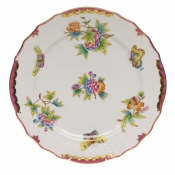 "Queen Victoria Pink  Border SERVICE PLATE - PINK 11""D"