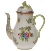 Queen Victoria Pink  Border COFFEE POT W/ROSE - PINK (36 O