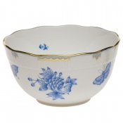"Fortuna Blue ROUND BOWL (3.5 PT) 7.5""D"