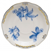 "Fortuna Blue TEA SAUCER 6""D"