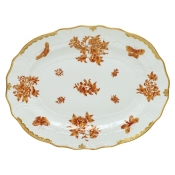 Herend Fortuna Rust Platter - 17""