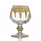Arte Italica Vetro Gold Brandy Glass
