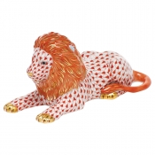 Herend Lion - Rust