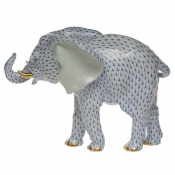 Herend Large Elephant - Blue