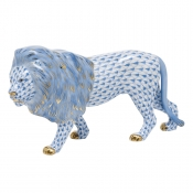 Herend Standing Lion - Blue