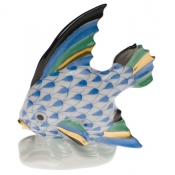 Herend Fish Table Ornament - Blue