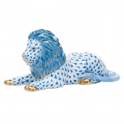 Herend Lion - Blue