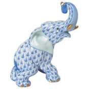 Herend Elephant - Blue