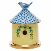 Herend Bird House Box - Blue