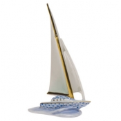 Herend Sailboat - Blue