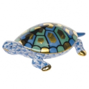 Herend Baby Turtle Blue