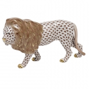 Herend Standing Lion - Chocolate