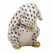 Herend Praying Bunny - Chocolate
