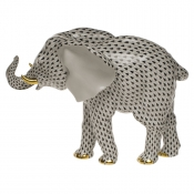 Herend Large Elephant - Black