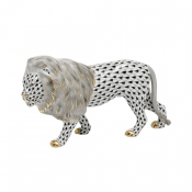 Herend Standing Lion - Black