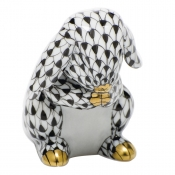 Herend Praying Bunny - Black