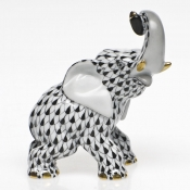 Herend Elephant - Black