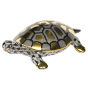 Herend Baby Turtle Black