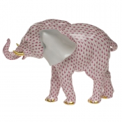Herend Large Elephant - Raspberry