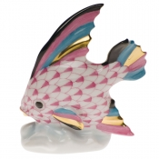 Herend Fish Table Ornament - Raspberry